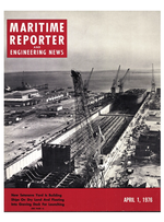 Maritime Reporter Magazine Cover Apr 1976 -