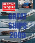 Maritime Reporter Magazine Cover Dec 2005 - Great Ships of 2005