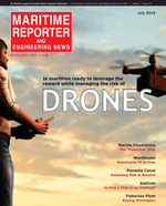 Maritime Reporter Magazine Cover Jul 2016 - Marine Communications Edition