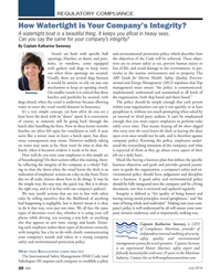 MN Jul-16#20 REGULATORY COMPLIANCE How Watertight is Your Company's Integrity