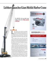 MR Apr-15#87 Liebherr Launches Giant Mobile Harbor Crane  The LHM 800