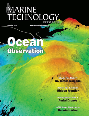 Marine Technology Magazine Cover Sep 2016 - Ocean Observation: Gliders, Buoys & Sub-Surface Networks