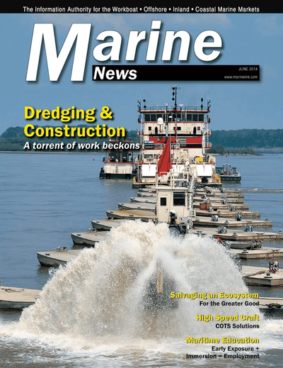 Cover of June 2014 issue of Marine News Magazine