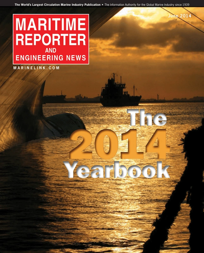 Cover of June 2014 issue of Maritime Reporter and Engineering News Magazine