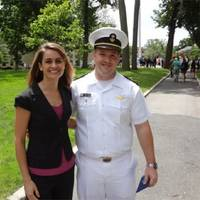 USMMA Midshipmen James Cameron and Crowley's Amelia Smith: Photo credit Crowley Maritime