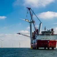 Last Turbine Placed: Photo courtesy of Siemens