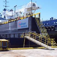 Vessell in Fourchon Shipyard: Photo courtesy of Bollinger