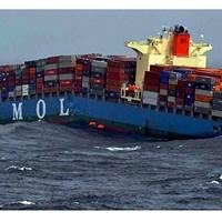MOL Comfort before sinking: Photo courtesy Indian Coast Guard