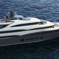 68-m Megayacht rendering courtesy of CRN