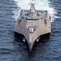 A littoral combat ship built by Austal (photo courtesy of Austal)