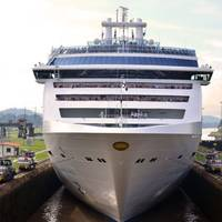 File photo: Island Princess transits the Panama Canal in 2011. (Photo: Panama Canal Authority)
