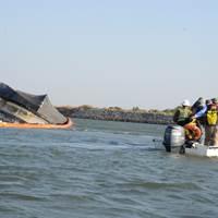 Spirit of Sacramento capsized near Bethel Island, Calif. (U.S. Coast Guard photo by Adam Stanton)