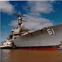 Ingalls Shipbuilding has been awarded a $14 million base contract to perform overhaul work on the Arleigh Burke-class destroyer USS Ramage (DDG 61). USS Ramage was originally built at Ingalls Shipbuilding and delivered to the U.S. Navy in 1995. Photo by HII