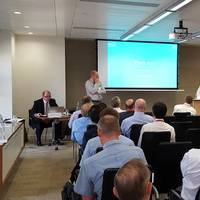 ABTO Chief Executive Ian Adams speaking to ICHCA members last week in London (Photo: ABTO)