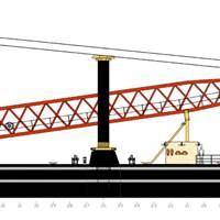 Profile of USACOE Crane Barge to be built by Conrad at its Morgan City Shipyard. (Image: Conrad)