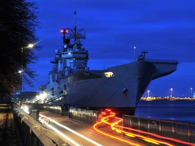 HMS Illustrious in Copenhagen: Photo credit MOD