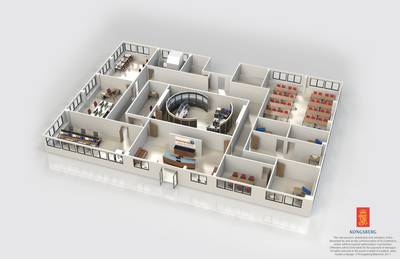Model of the center:Image credit Kongsberg