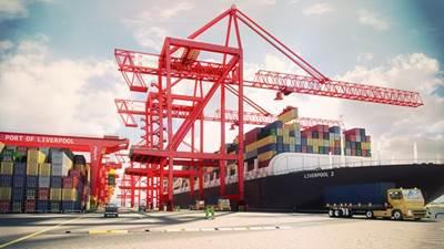 Liverpool 2 Port Expansion: Photo credit Peel Ports