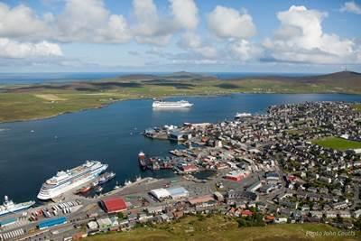 Lerwick Harbour: Photo credit Lerwick Port Authority