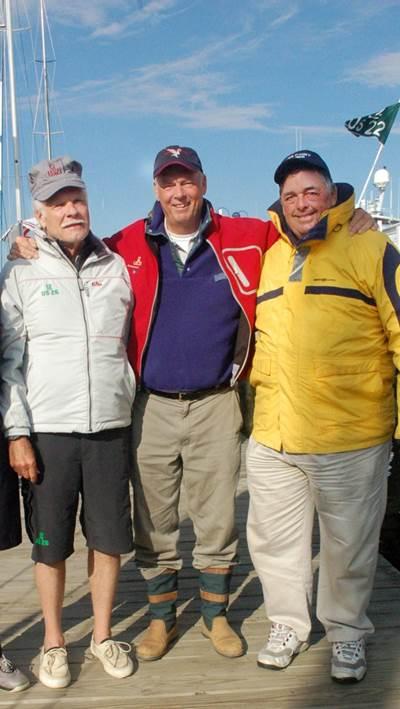 Ted Turner, Gary Jobson, Dennis Conner: Photo credit Pine Bros