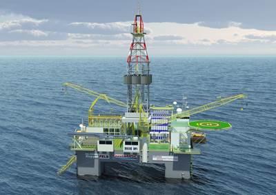 Semi-submersible: Image credit GE Power Conversion
