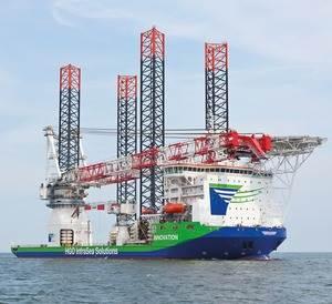 Heavy-lift Ship 'Innovation': Photo credit Liebherr