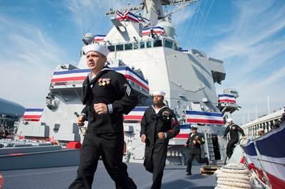 'Man the Ship': Photo credit USN