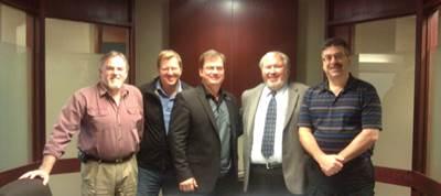 From Left to Right: John Walker, Luc Pilon, Jean-Claude Dugas, Jeffrey Monroe and Robert Dalley.