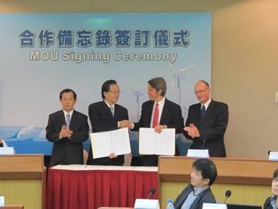 Taiwan MOU Signing: Photo credit GL Garrad Hassan