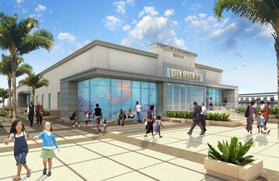 Depiction: Future world-class marine research center at the Port of Los Angeles.
