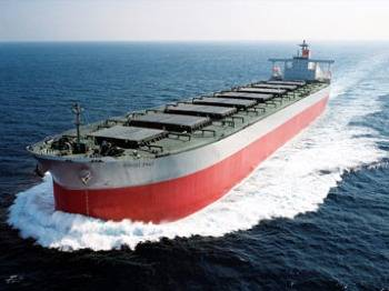 A 'K'-Line Bulk Carrier: Photo credit 'K'-Line