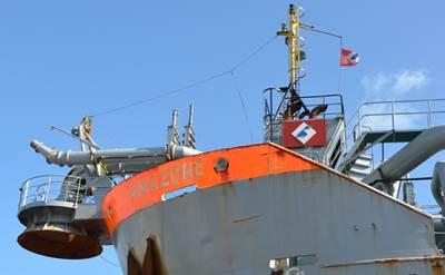 Dredger Amazone: Photo credit Shipdock Harlingen