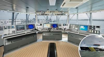 Alphaline design concept for new pilot vessel wheelhouse.