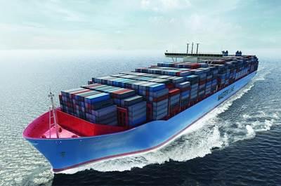 Maersk Triple E-class: Image credit Wiki CCL