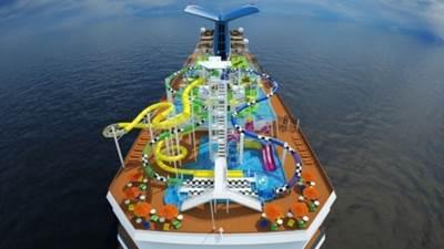 Carnival Sunshine's 'WaterWorks': Image credit Carnival Cruises