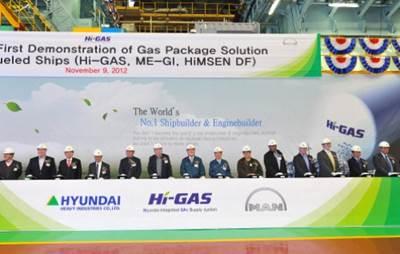 HHI's FGSS Test Announcement: Photo credit Hyundai Heavy Industries