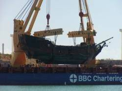 Black Pearl Hoisted: Photo credit Yacht Path Marine Group
