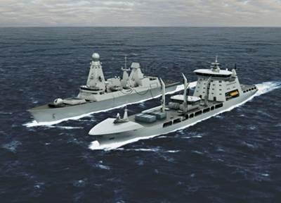 New Tide-class & Type 45 Destroyer: Artist's impression credit MOD