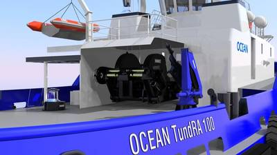 Robert Allan designed TundRA 100 with Markey equipment. It will be built by Ocean Industries Inc.