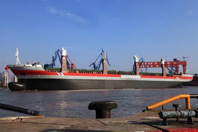 MV Thameborg: Photo credit Royal Wagenborg/Hudong-Zhonga Shipbuilding