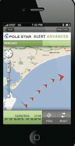Pole Star Alert Mobile App: Image credit Pole Star