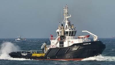 Tugboat 'Izbaizabal Diez': Photo credit Rober Allan Ltd.