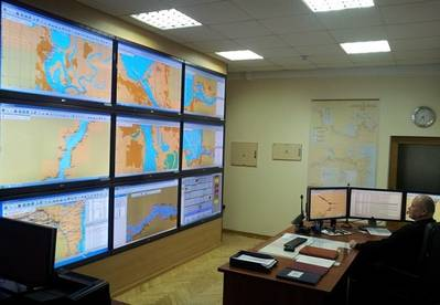 River Information System Control: Photo credit Transas