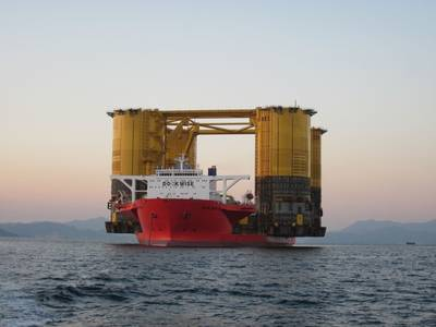 'Olympus' TLP Underway: Photo credit Shell Offshore