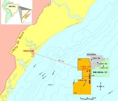 Map Sergipe-Alagoas Basin: Image courtesy of Petrobas