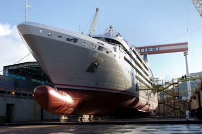 Luxury Cruise Ship Le Soleal: Photo credit Fincantieri