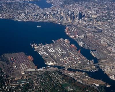 Seattle Harbor: Photo credit Port of Seattle