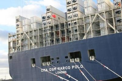 CMA CGM Marco Polo: Photo credit UK MCA