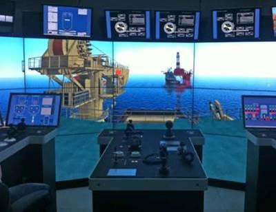 Kongsberg Offshore Simulator: Photo courtesy of Kongsberg