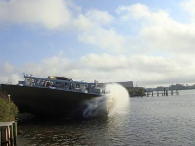 TY Barge Launch: Photo credit TY Offshore